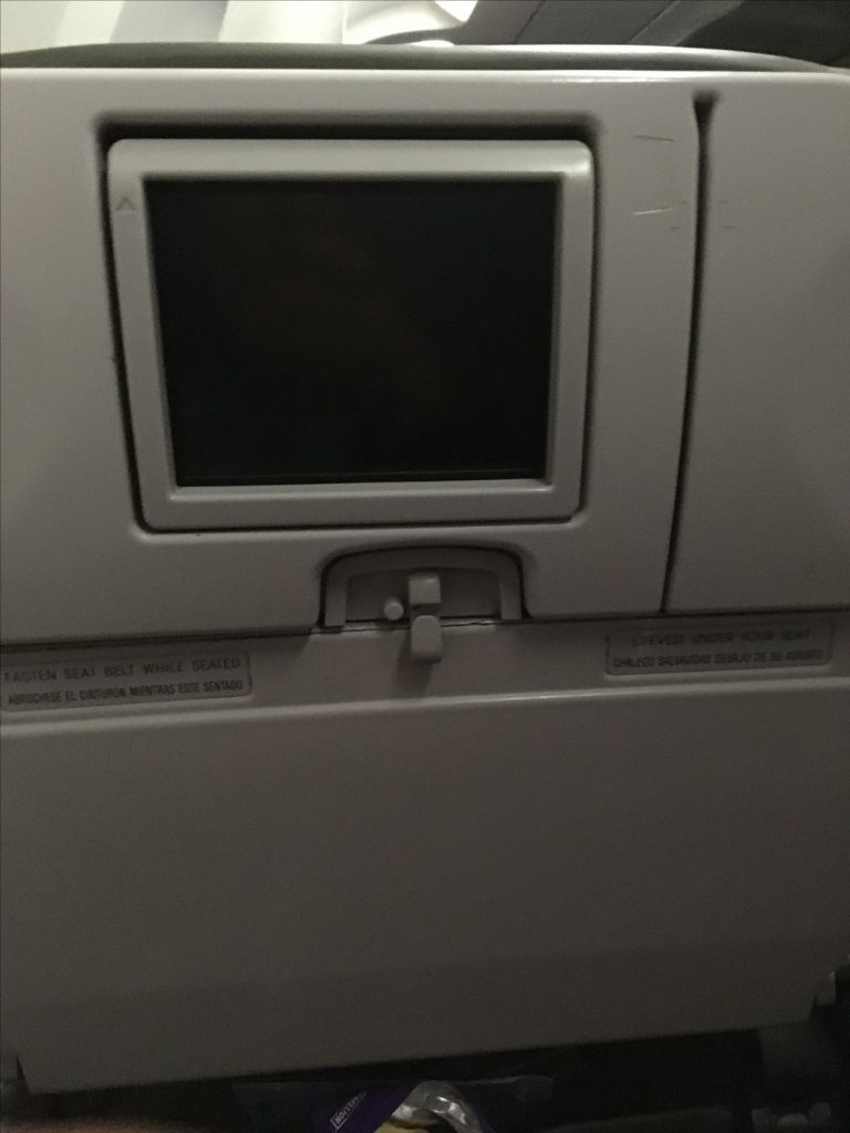 JetBlue Airways Airbus A320 200 Economy Cabin Small IFE Screen System