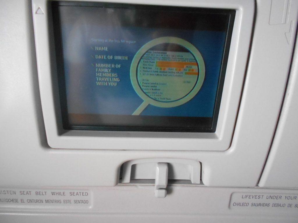 JetBlue Airways Airbus A320 200 Economy Cabin Standard Coach Seatback screen