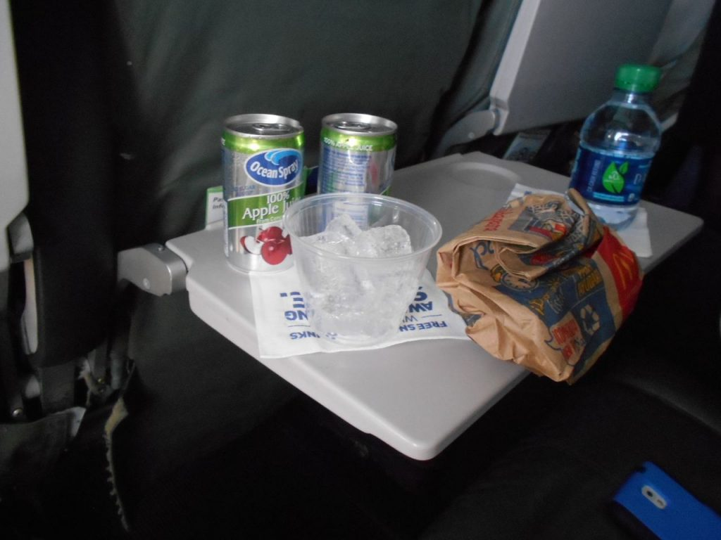 JetBlue Airways Airbus A320 200 Economy Cabin Standard Coach Seats Inflight Drinks and Food Order Services