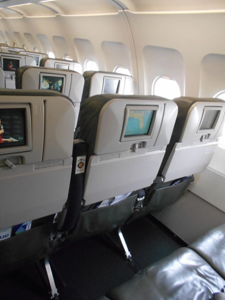 JetBlue Airways Airbus A320 200 Economy Cabin Standard Coach Seats PTVs Services