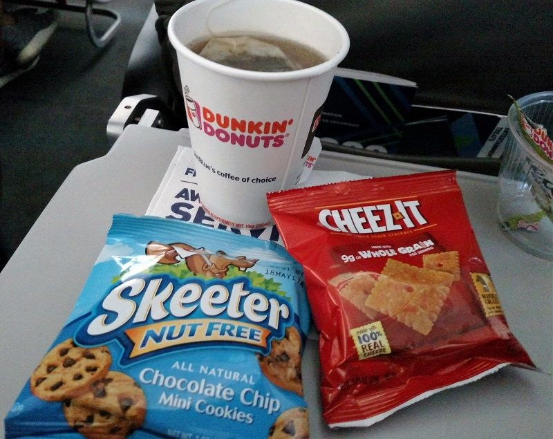 JetBlue Airways Airbus A320 200 Economy Cabin Standard Seats Inflight Beverages Services with free snacks
