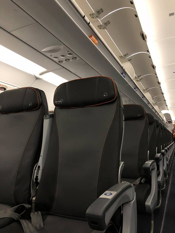 JetBlue Airways Airbus A320 200 retrofitted seating chart configuration