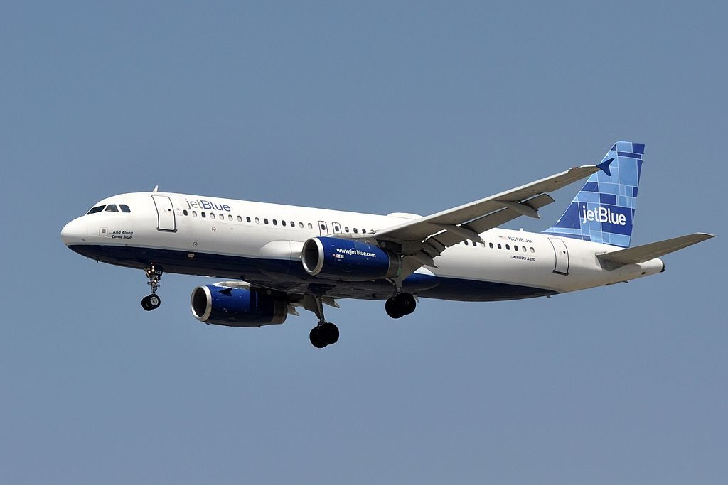 JetBlue Airways Airbus A320 232 N608JB ...And Along Came Blue at LAX Los Angeles International Airport