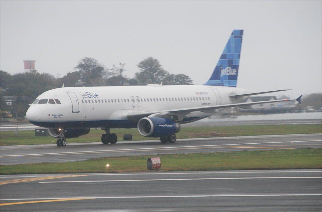 JetBlue Airways Airbus A320 232 N629JB Company Blue at BOS Logan International Airport