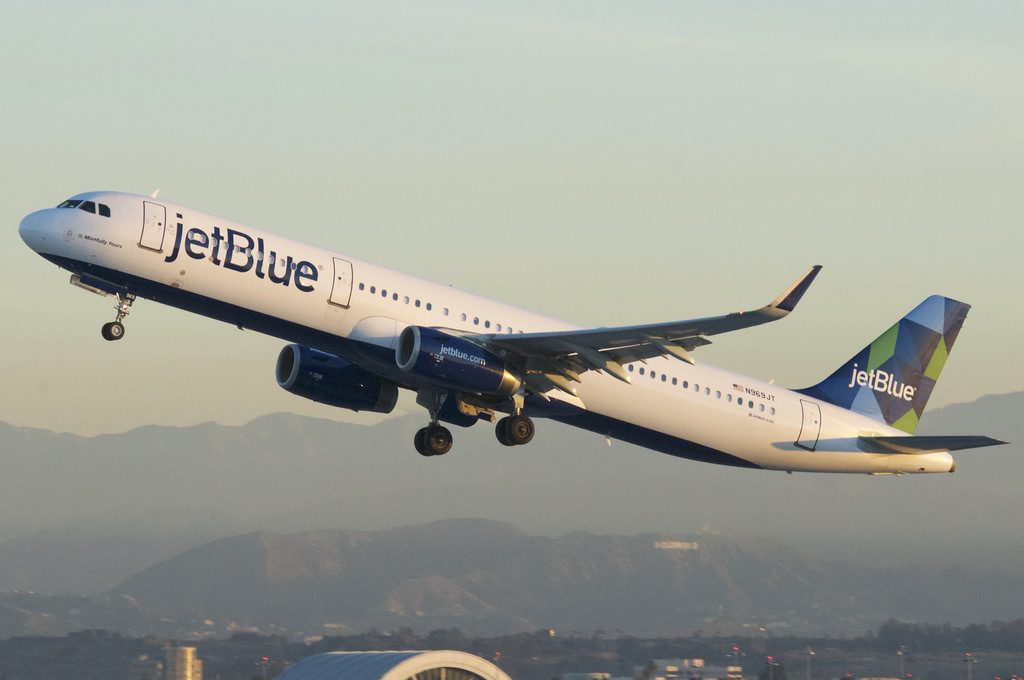 JetBlue Airways Airbus A321 231 sharklets N969JT Mintfully Yours departure LAX