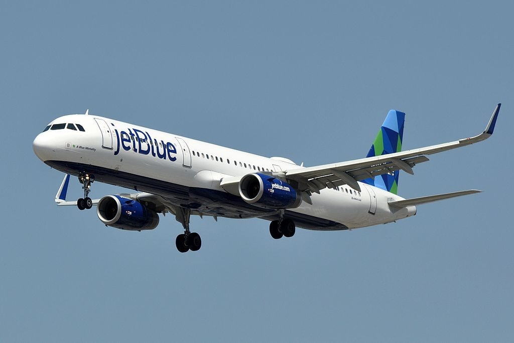 JetBlue Airways Airbus A321 231WL N945JT A Blue Mintality on final approach at LAX
