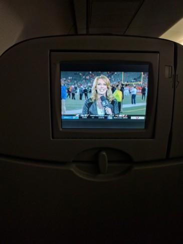 JetBlue Airways Embraer E190 E Jet Cabin InFlight Entertainment Seatback TV