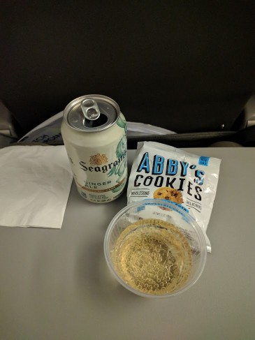 JetBlue Airways Embraer E190 E Jet Cabin InFlight Snacks and Beverages Order Services