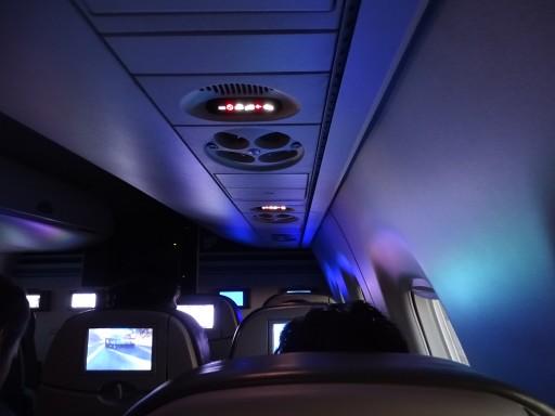 JetBlue Airways Embraer E190 E Jet Cabin Overhead panel photos