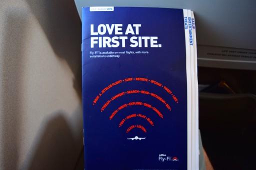 JetBlue Airways Embraer E190 E Jet In flight service guide and BOB menu