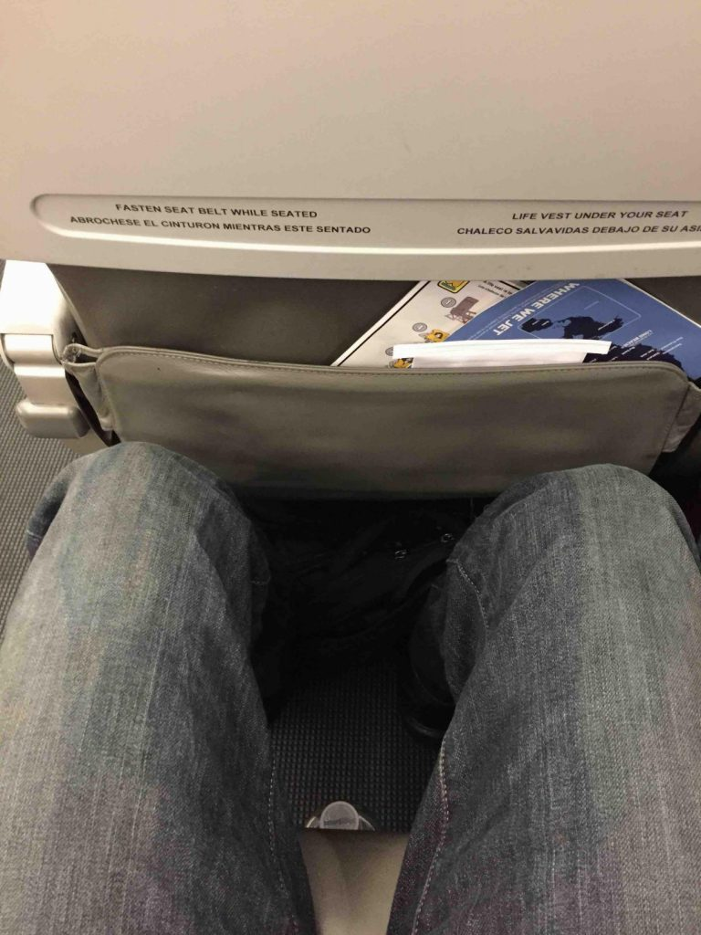 JetBlue Airways Embraer E190 E Jet Lots of room in a standard coach seat
