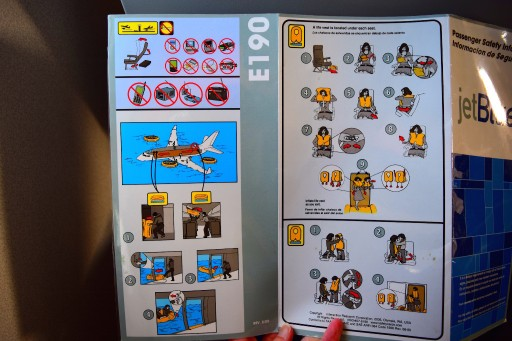 JetBlue Airways Embraer E190 E Jet Safety Cards