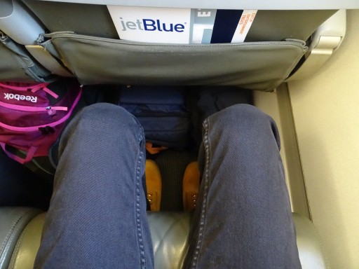 JetBlue Airways Embraer E190 E Jet cabin seats most leg room in Economy Class