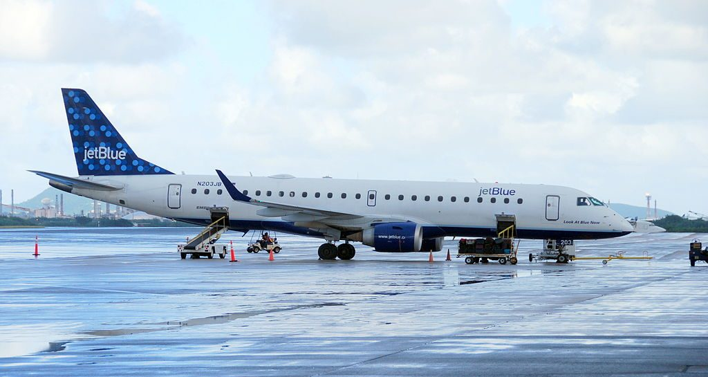 JetBlue Airways Embraer ERJ 190 100IGW 190AR N203JB Look At Blue Now in Henry E. Rohlsen Airport St. Croix