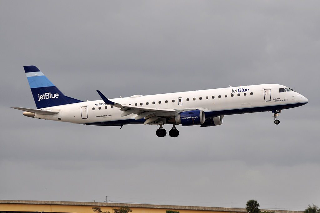 JetBlue Airways Embraer ERJ 190 N192JB I'm A Natural Blue at Fort Lauderdale – Hollywood International Airport