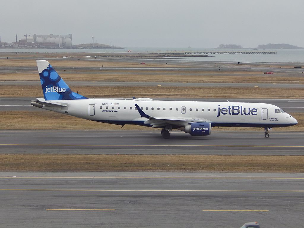 JetBlue Airways N179JB Come Fly With Blue Embraer ERJ 190 at General Edward Lawrence Logan International Airport