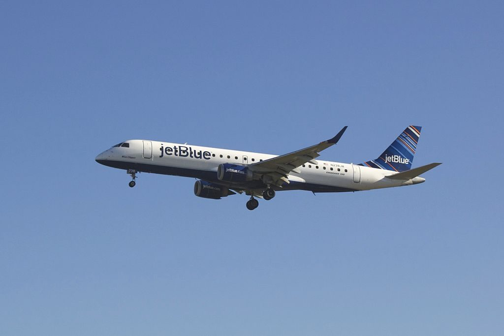 JetBlue Airways N238JB Blue Clipper Embraer ERJ 190 at Baltimore Washington International Thurgood Marshall Airport BWI