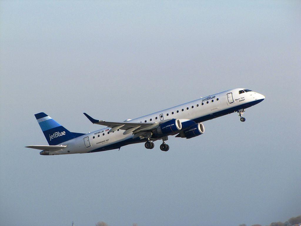 JetBlue Airways N296JB Blues Your Daddy Embraer ERJ 190 100IGW 190AR at General Edward Lawrence Logan International Airport