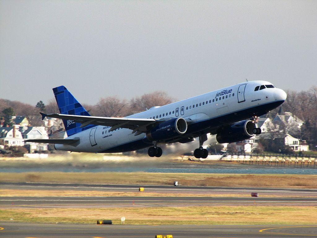 JetBlue Airways N606JB Airbus A320 200 Idlewild Blue at General Edward Lawrence Logan International Airport