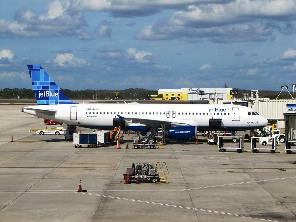 JetBlue Airways N612JB Blue Look Maaahvelous Airbus A320 200 at Southwest Florida International Airport