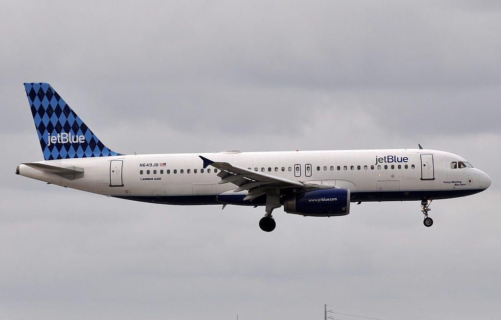 JetBlue Airways N649JB Fancy Meeting Blue Here Airbus A320 232 at Fort Lauderdale – Hollywood International Airport