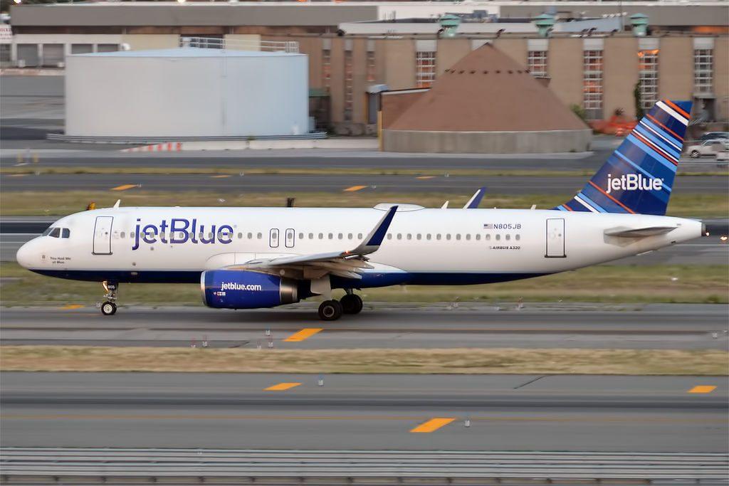 JetBlue Airways N805JB Airbus A320 232wl You Had Me At Blue at John F. Kennedy International Airport