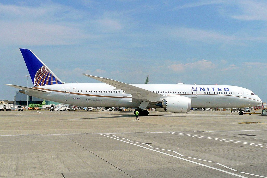 N15969 United Airlines Aircraft Fleet Boeing 787 9 Dreamliner cnserial number 60142531 at London Heathrow Airport