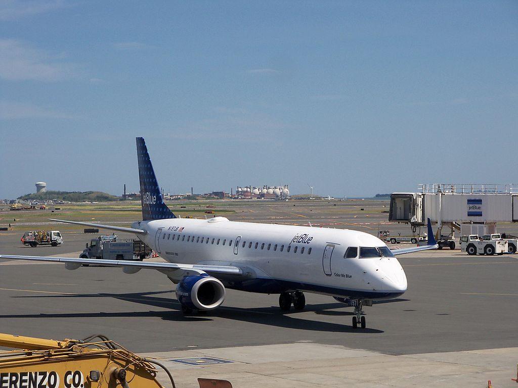 N197JB JetBlue Airways Embraer ERJ 190 100IGW Color Me Blue at Boston Logan International Airport