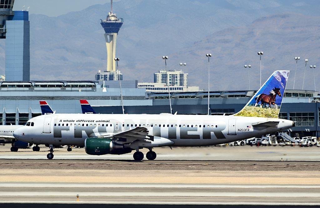 N203FR Frontier Airlines Airbus A320 214 cn 1806 Sally the Mustang at McCarran International Airport KLAS Las Vegas Nevada