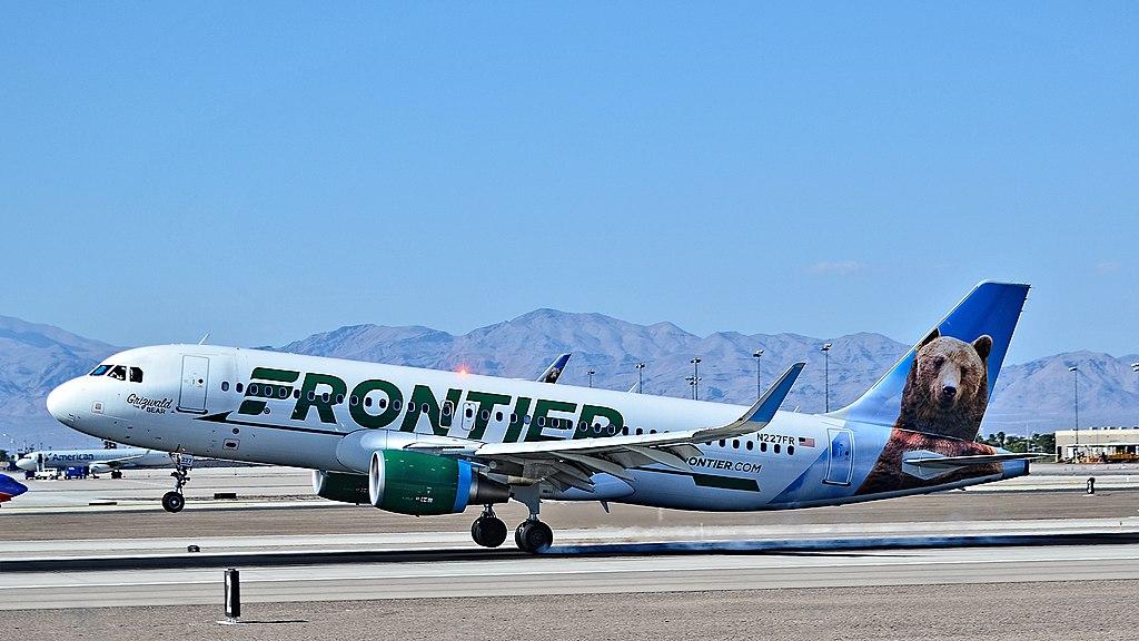N227FR Frontier Airlines Airbus A320 214 winglets s n 6184 Grizwald The Bear landing McCarran International Airport LAS KLAS USA