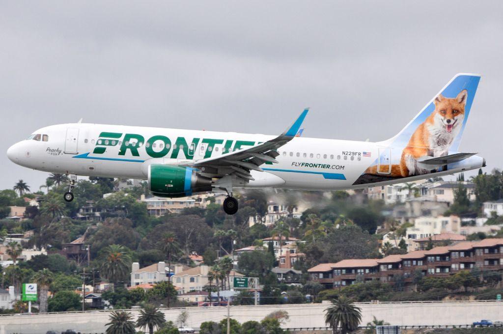 N229FR Peachy the Fox Frontier Airlines fleet Airbus A320 200wl aircraft photos