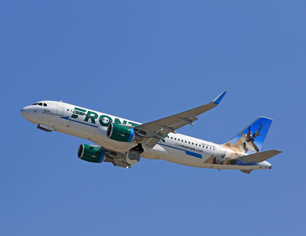 N233FR Frontier Airlines Airbus A320 200wl Buck The Pronghorn