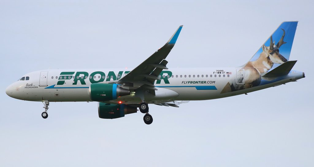 N233FR Frontier Airlines Airbus A320 200wl Buck The Pronghorn aircraft photos