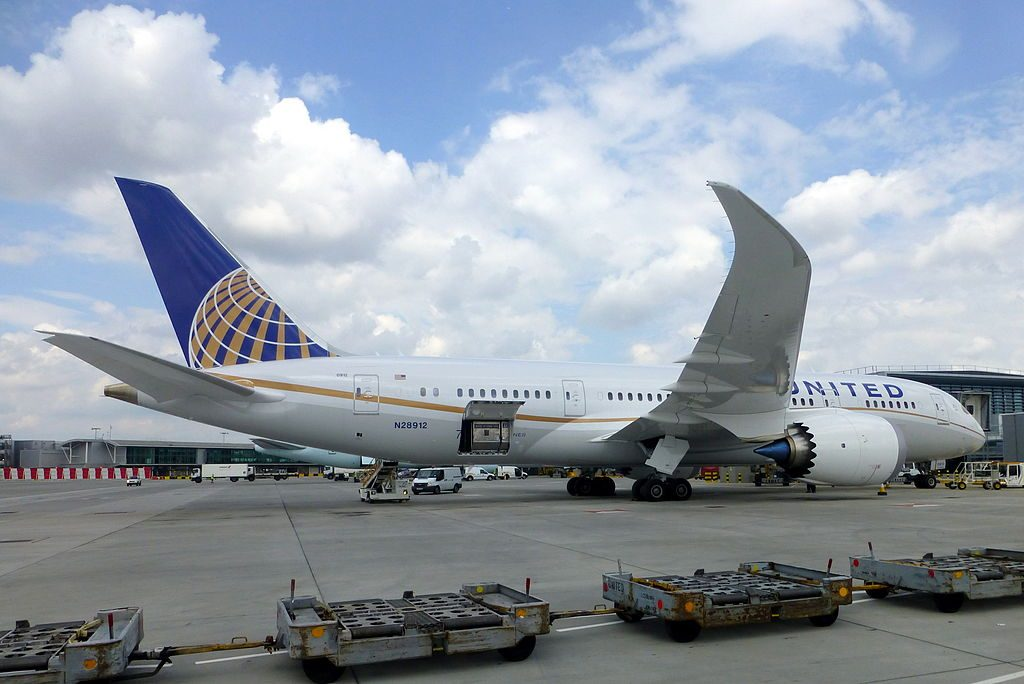 N28912 United Airlines Fleet Boeing 787 8 Dreamliner parked on std 239 on its first visit at LHR Airport