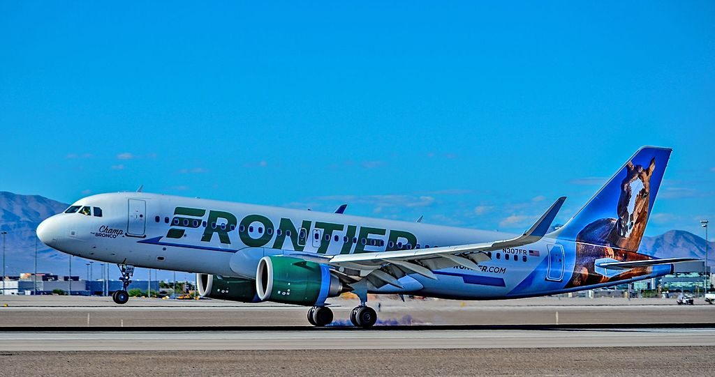 N307FR Frontier Airlines Airbus A320 251Neo cn 7472 Champ The Bronco at Las Vegas McCarran International Airport LAS KLAS USA