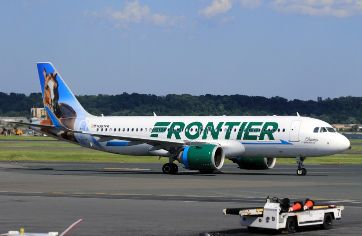 N307FR Frontier Airlines Airbus A320Neo Champ The Bronco livery color arriving from Denver International Airport 1