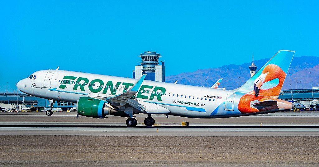 N308FR Frontier Airlines Airbus A320 251Neo sn 7538 Flo The Flamingo at Las Vegas McCarran International LAS KLAS USA