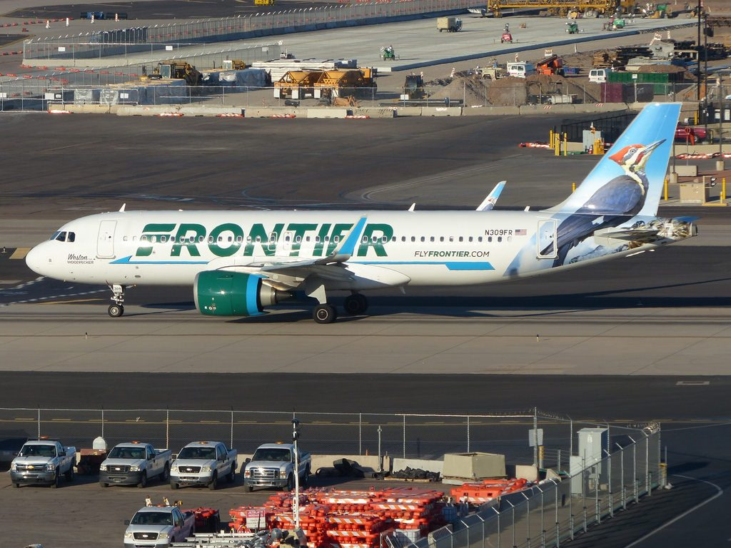 N309FR Airbus A320Neo Frontier Airlines Fleet Weston The Woodpecker livery colors