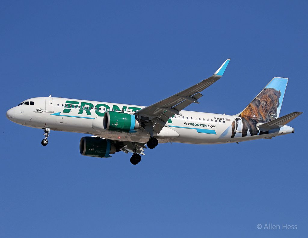 N313FR Frontier Airlines Airbus A320neo Wiley The Bison @Allen Hess