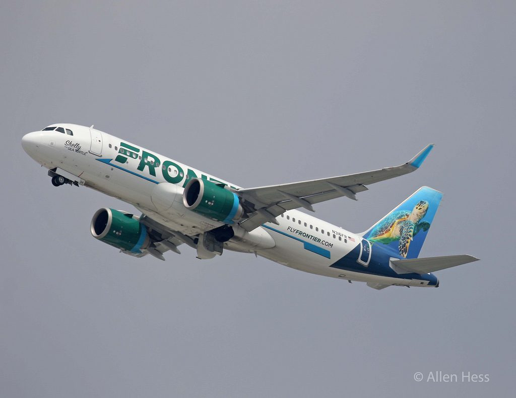 N316FR Frontier Airlines Airbus A320neo Shelly the Sea Turtle livery @AllenHess
