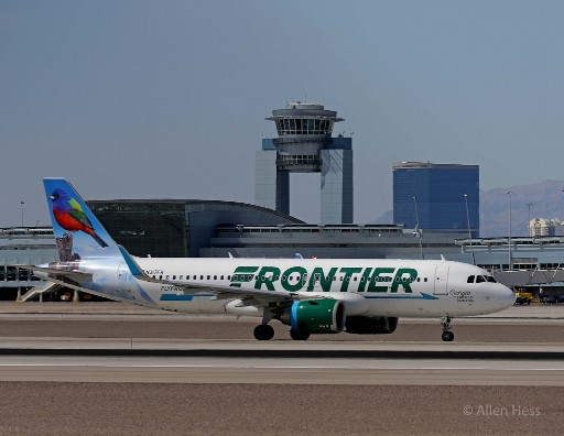 N317FR Frontier Airlines Airbus A320neo Georgia the Painted Bunting @AllenHess 1