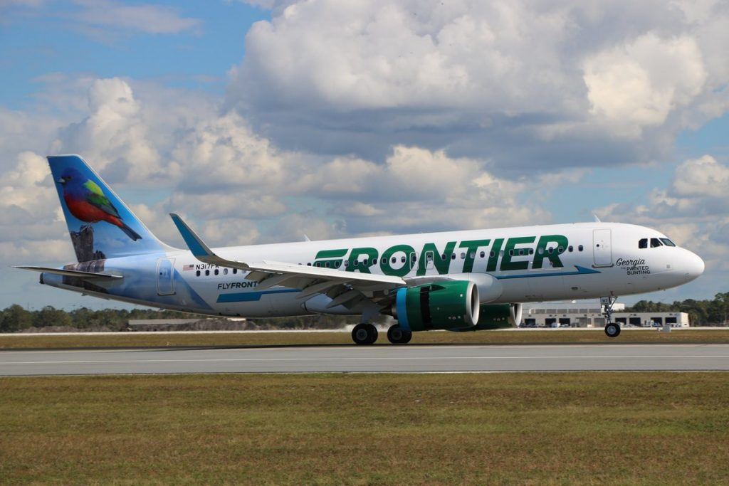 N317FR Frontier Airlines Airbus A320neo Georgia the Painted Bunting livery aircraft photos