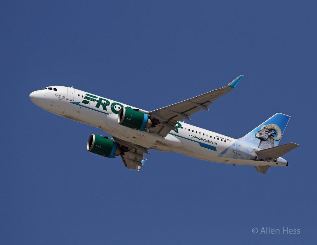 N323FR Frontier Airlines Airbus A320neo Colorado the Bighorn Sheep @AllenHess