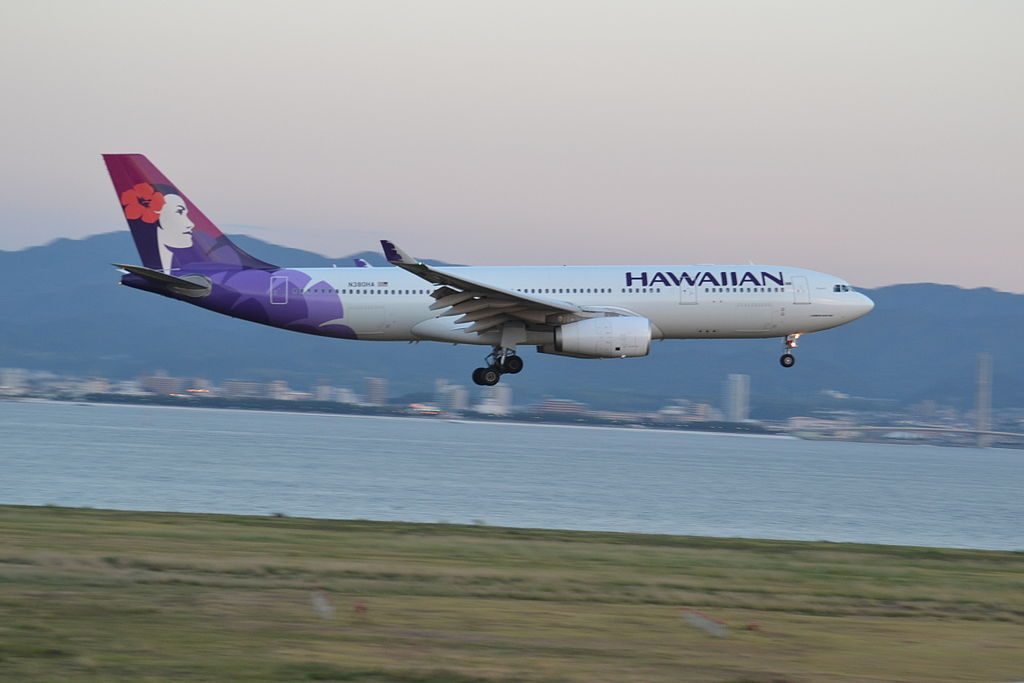 N380HA Hawaiian Airlines 2010 Airbus A330 243 cn 1104 22Makali i22 on final approach at Kansai International Airport Japan