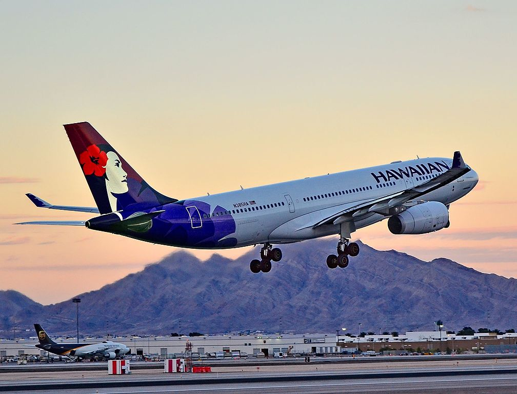 N385HA Hawaiian Airlines Fleet 2012 Widebody Aircraft Airbus A330 200 cn 1295 22Manaiakalani22 departing Las Vegas McCarran International Airport LAS KLAS USA