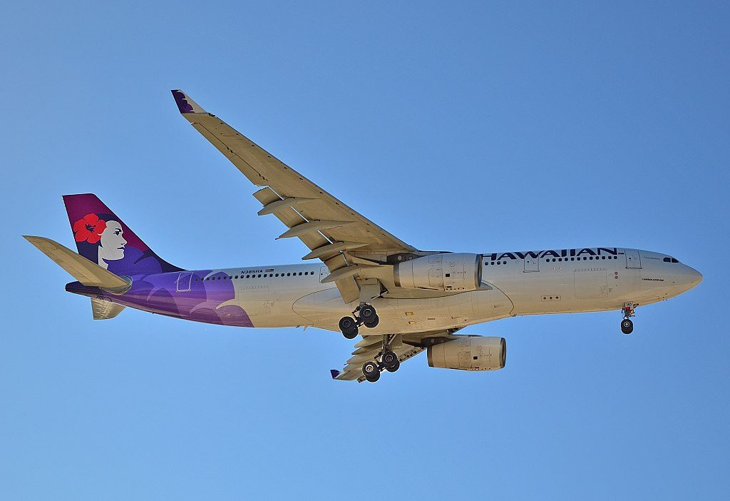 N385HA Hawaiian Airlines Fleet 2012 Widebody Aircraft Airbus A330 200 cn 1295 22Manaiakalani22 on short final before landing at LAS Airport