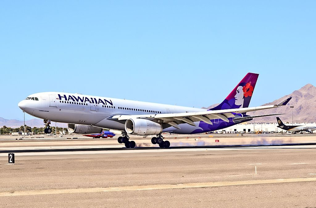 N388HA Hawaiian Airlines Fleet Airbus A330 243 cn 1310 22Nahiku22 hard landing at McCarran International Airport KLAS