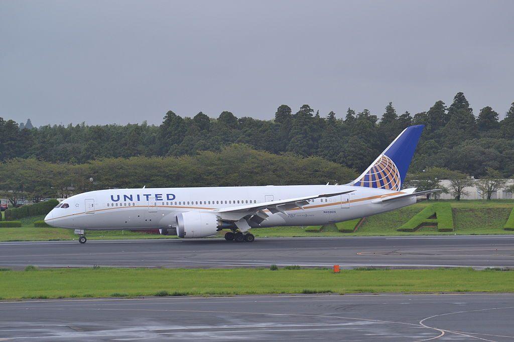 N45905 United Airlines Aircraft Fleet Boeing 787 8 Dreamliner cnserial number 3482555 at Tokyo Narita NRT Japan