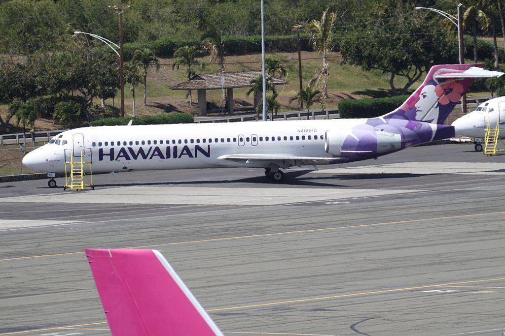 N480HA Pueo B717 22A Hawaiian Airlines Aircraft Fleet parking at Honolulu International Airport
