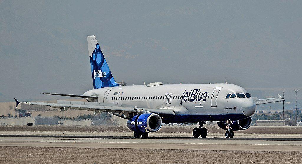 N527JL JetBlue Airways Airbus A320 232 CN 1557 Blue Bayou arrival at Las Vegas McCarran International Airport LAS KLAS USA